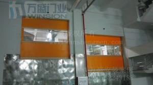 广州统一企业有限公司快速卷帘门安装案例