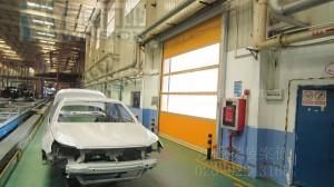 成都丰田汽车有限公司快速卷门安装案例