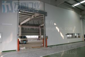 广州爱德克斯汽车配件有限公司快速卷门安装案例