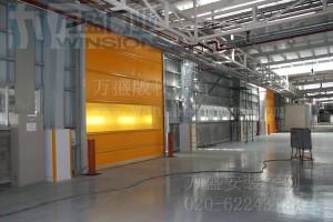 广州吉中汽车装饰有限公司快速卷门安装案例